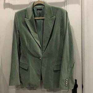 Tahari light green velour blazer